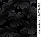 trendy black seamless pattern...   Shutterstock .eps vector #1168716286