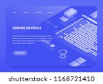 isometric concept landing page...   Shutterstock .eps vector #1168721410