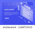 isometric concept landing page... | Shutterstock .eps vector #1168721413