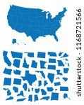 map of usa with diffferent... | Shutterstock .eps vector #1168721566