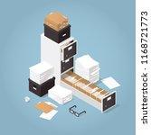 isometric concept folder...   Shutterstock .eps vector #1168721773