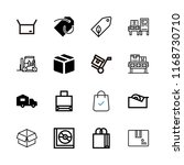packaging icons set with cube... | Shutterstock .eps vector #1168730710