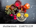 close up of herbal face pack of ...   Shutterstock . vector #1168731139