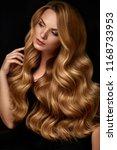 beauty hair. beautiful woman... | Shutterstock . vector #1168733953