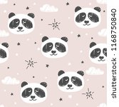 seamless pattern with cute... | Shutterstock .eps vector #1168750840