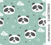 seamless pattern with cute... | Shutterstock .eps vector #1168750843