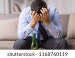 alcoholism  alcohol addiction... | Shutterstock . vector #1168760119