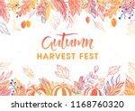 autumn harvest festival poster... | Shutterstock .eps vector #1168760320
