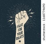 protest fist with fight for... | Shutterstock .eps vector #1168774690