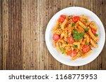 spaghetti pasta with tomatoes... | Shutterstock . vector #1168775953