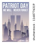 patriot day poster with new... | Shutterstock .eps vector #1168776319