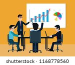 teamwork business meeting... | Shutterstock .eps vector #1168778560