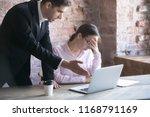 colleague  boss or advisor... | Shutterstock . vector #1168791169