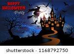 halloween night concept... | Shutterstock .eps vector #1168792750