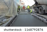 pouring ready mixed concrete... | Shutterstock . vector #1168792876