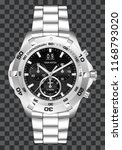 silver watch clock chronograph... | Shutterstock .eps vector #1168793020