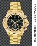 gold watch clock chronograph... | Shutterstock .eps vector #1168793026