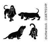 basset hound dog set of... | Shutterstock .eps vector #1168793149