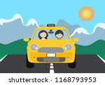 a young driver man driving a... | Shutterstock .eps vector #1168793953