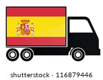 The Flag Of Spain Painted On...