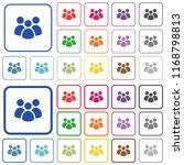 team color flat icons in... | Shutterstock .eps vector #1168798813