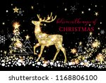 christmas greeting card with... | Shutterstock .eps vector #1168806100
