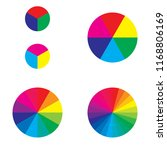 colour wheel in 3  6  12 and 24 ... | Shutterstock .eps vector #1168806169