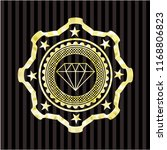 diamond icon inside gold emblem ... | Shutterstock .eps vector #1168806823