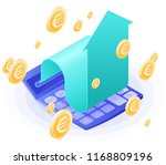 the accountant calculator ... | Shutterstock .eps vector #1168809196