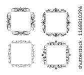 vintage vector swirl frame set | Shutterstock .eps vector #1168810396