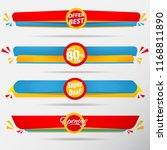 sale banner collection label... | Shutterstock .eps vector #1168811890