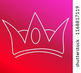 crown hand drawn red and pink...   Shutterstock .eps vector #1168817119