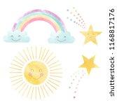 watercolor set of cute children'... | Shutterstock . vector #1168817176