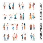 flat people vector set ... | Shutterstock .eps vector #1168817680