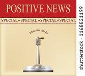 news sheet   special positive... | Shutterstock .eps vector #1168821199