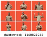 the collage of different human...   Shutterstock . vector #1168829266
