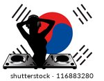 the flag of south korea with a...   Shutterstock .eps vector #116883280
