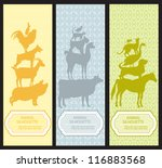 bookmarks with animal... | Shutterstock .eps vector #116883568