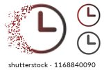 clock icon in dispersed  dotted ... | Shutterstock .eps vector #1168840090