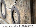 Wooden Door In The Temple Of...
