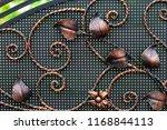 wrought iron gates  ornamental... | Shutterstock . vector #1168844113