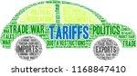 tariffs word cloud on a white...   Shutterstock .eps vector #1168847410