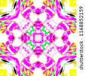 colorful kaleidoscopic pattern... | Shutterstock . vector #1168852159