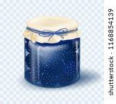 raspberry jam. blackberry jam.... | Shutterstock .eps vector #1168854139