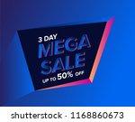 mega sale special banner...   Shutterstock .eps vector #1168860673