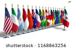 g20 mexico flag isolated silk...   Shutterstock . vector #1168863256