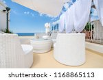 rooftop terrace prepared for a... | Shutterstock . vector #1168865113