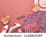 autumn arrives. fashion lady... | Shutterstock . vector #1168869289