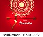 shubh dussehra wallpaper design ... | Shutterstock .eps vector #1168870219