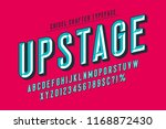 original display font with... | Shutterstock .eps vector #1168872430
